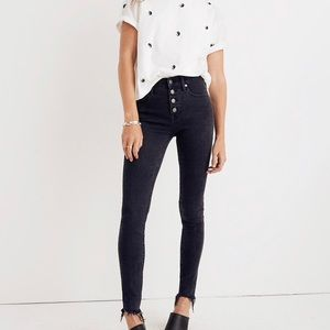 "Madewell 9"" High Rise Button Fly Skinny Jeans"